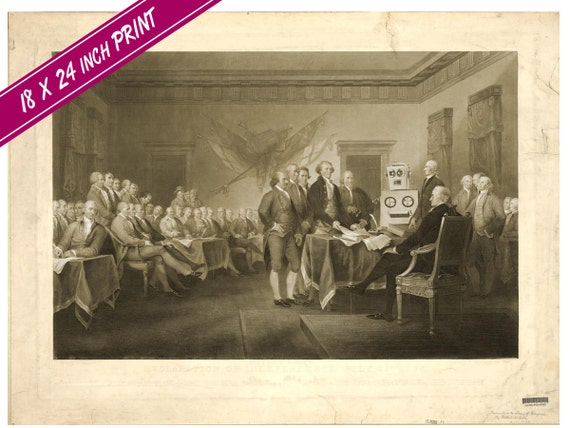 Large (18 x 24 in) Declaration of Independence Print
