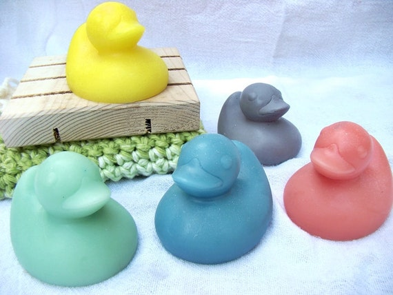 Rubber Ducky Soaps---Set of 2---Shea Butter Soap