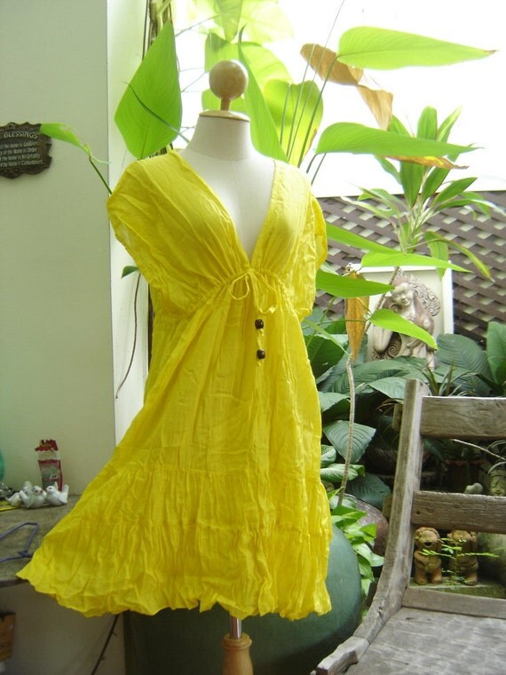 Lovely Cotton Tunic - Yellow