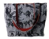 Alexander Henry Cat Fabric Tote Bag uk