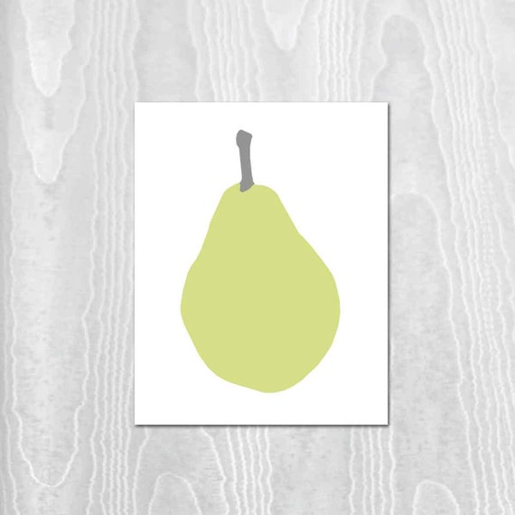 Pear Print, Modern Digital Art, Farmhouse Print, Kitchen Print, Kitchen Decor, Modern Home Print, Rustic Kitchen Print. Home and Living Art