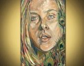 Original oil painting portrait on canvas
