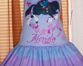 Disneys'  BRAVE  MERIDA  tee shirt dress .....One size      ( XS ) 4  last one!!!