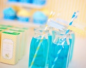 DIY Printable Straw Flags - Blue Monkey Party