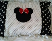Minnie Mouse Black and White Polka Dot Bed Sham