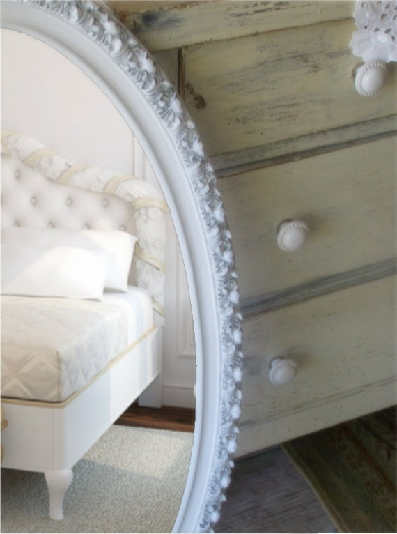 Vintage Shabby Chic Mirror, Cottage Chic, Vanity, French Country, Nursery