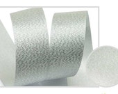 Metallic Sparkle Silver Satin Ribbon - 15mm(5/8'') , and 25mm(1'')