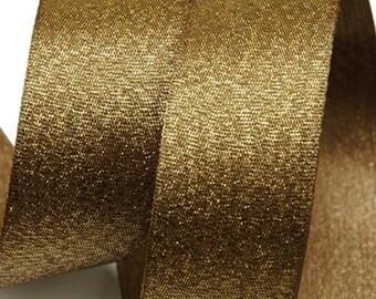 Metallic Sparkle Bronze Satin Ribbon - 15mm(5/8'') , and 25mm(1'')
