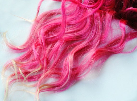 Scene Audrey Kitching inspired // Pink Dream Hair // Human Hair hand dyed Clip in Extensions // Ombre Pastel