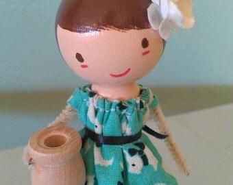 Custom Birthday Candle Holder (Girl)