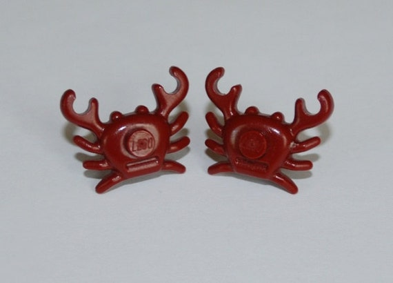 Lego Red Crab Studded Post Earrings