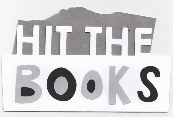Hit the Books Title Words Die Cut