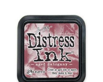 Tim Holtz-Distress Ink Pad-Aged Mahogany