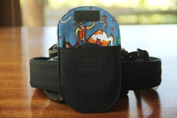 Camera Strap Lens Cap Pocket - up to 77mm - Ready to Ship