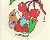 Vintage 80's Trend CHERRY Mouse Scratch and Sniff Sticker