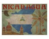 NICARAGUA 1FS- Handmade Leather Photo Album - Travel Art