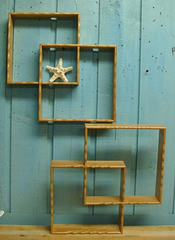 Curio Shelf Shadowbox Vintage Mid Century Modern Stacking