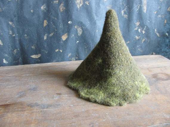 Wool felted gnome costume hat for children