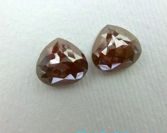 DIAMONDs. RiCH CHoCOLATE BRoWN. Natural Fancy Color Rose Cut Diamond. Pear Shape. 1 pc.1.90 cts. 8.68 x 8.17mm (Dia222A)