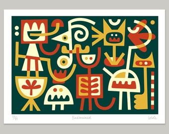 Birdbrained - Limited edition print by Lo Cole