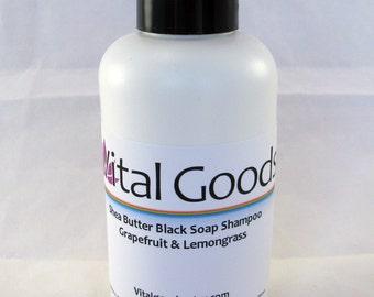 dreadlock shampoo Shea Butter Black Soap Shampoo Grapefruit Lemongrass 4oz