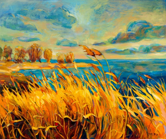 Original Seascape Painting on Canvas-Summer lights-Modern Seascape Fine Art Oil Painting On Canvas By Ivailo Nikolov-SIZE: 24'' x20