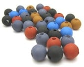 200 pcs frosted matte beads 8 mm mix