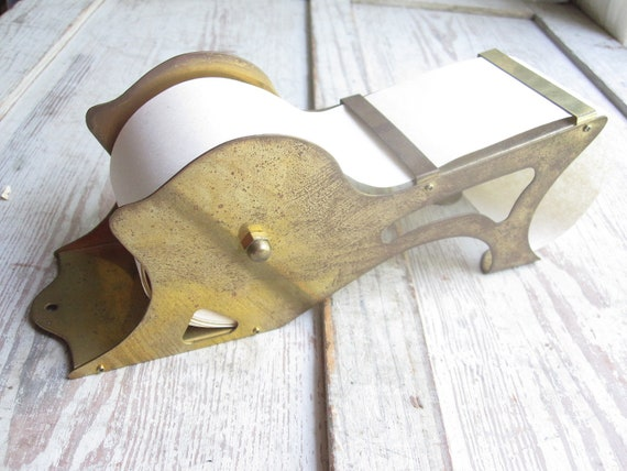 Vintage Brass Paper Holder