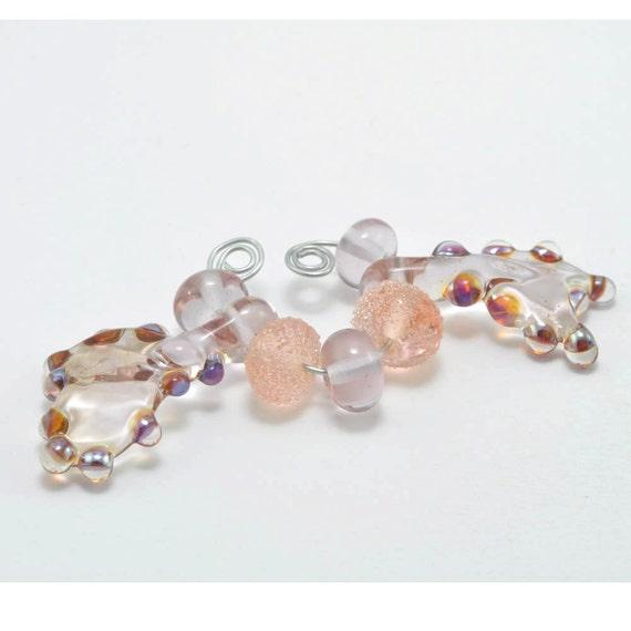Rose Seaweed : Glass Lampwork Beads