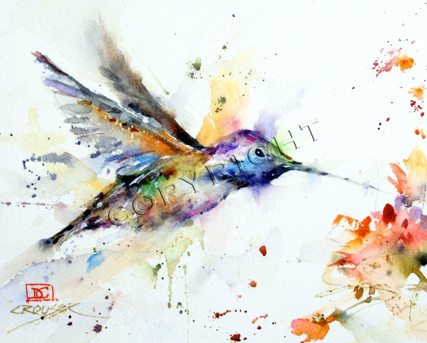 Hummingbird Ceramic Tile By Dean Crouser