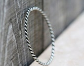 Silver twist bangle bracelet - simple sterling silver bangle