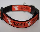 "SALE Halloween Boo Ghost 3/4"" Dog Collar"