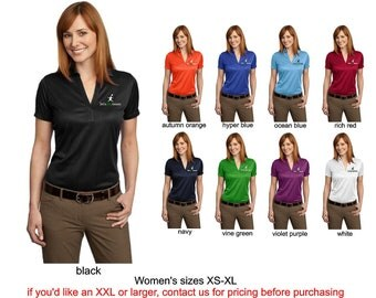 L528 lets play music dry wicking jacquard polo