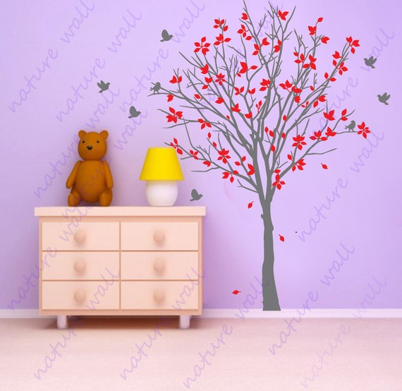 items similar to tree wall decals kids wall decals wall. Black Bedroom Furniture Sets. Home Design Ideas