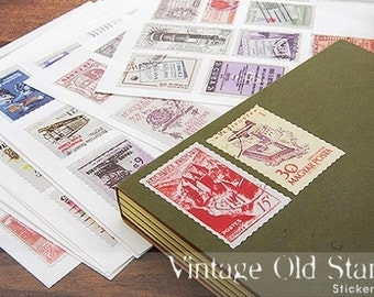 6 Sheets Korea Pretty Sticker Set - Colorful Paper Sticker Set-Vintage Old Stamp Sticker-B