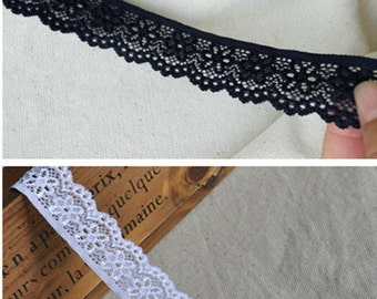 Lace Fabric Trim 2Yards  White Embroidery Lace Gauze 2.5cm wide