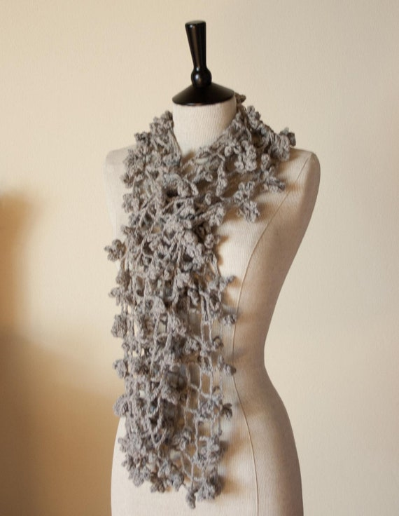 Flower Lace Shawl Crochet Pattern Favecrafts : CROCHET PATTERN instant download - Scarf Shade of Spider ...