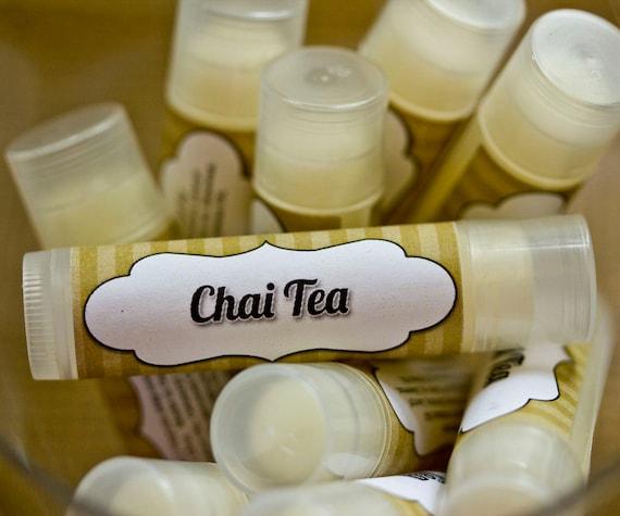 Chai Tea Lip Balm Tube Ginger Cardamon Cinnamon Anise