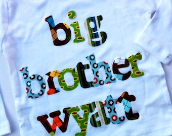 Personalized Big Brother Shirt -Choose Shirt Color and Sleeve Length - Perfect for Pregnancy Announcement, Baby Shower Gift