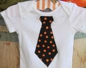 Grandpa George Halloween Neck Tie Onesie