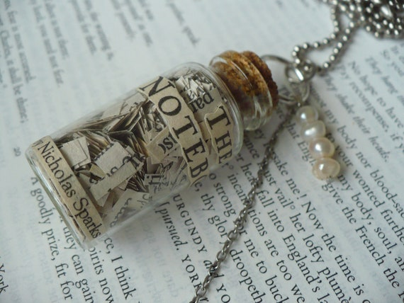 The Notebook - Bottle - Book - Chain - Necklace - Jewelry - Love - In love -