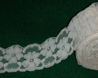 "Ecru Lace 10 Yards Scallop 8.7 meters, 3.25"" or 6 cm wide"