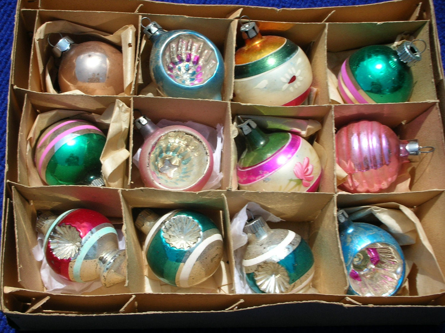 Vintage Christmas Ornaments Mercury Glass by ...