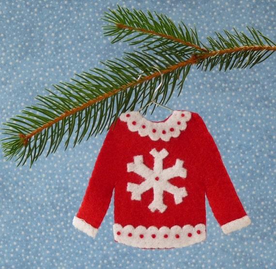 Items Similar To Snowflake Ugly Christmas Sweater Felt