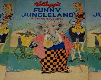 Kellogg's Funny Jungleland Moving Pictures Books (3)