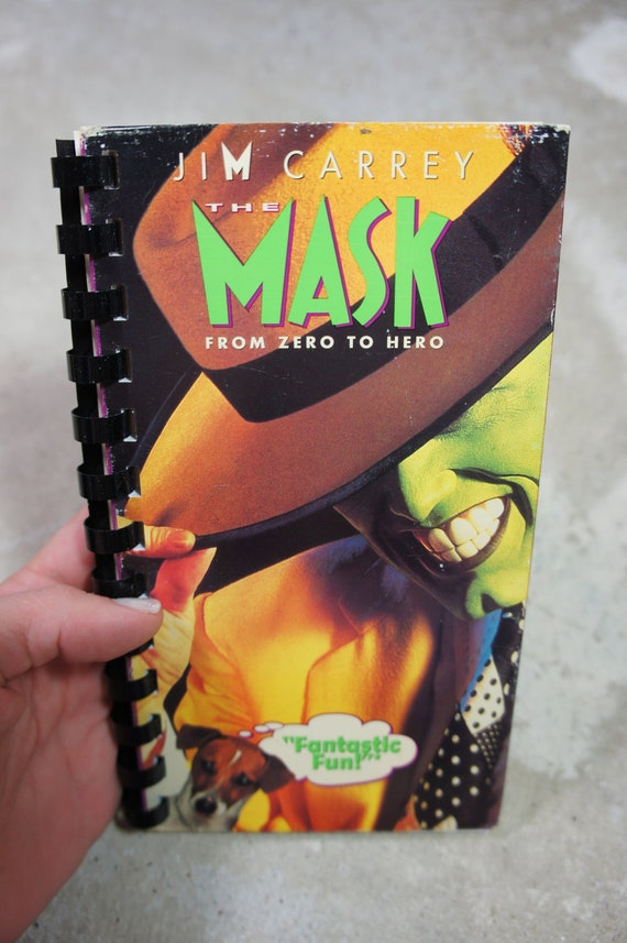 recycled 90's THE MASK vhs notebook