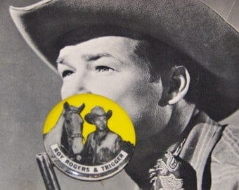 Vintage Roy Rogers Pinback Button