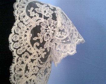 Wedding Bolero Ivory or White Lace Custom-LINED