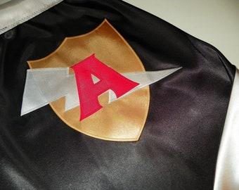 SUPERHERO CAPE-personalized- custom monogram many designs and colors-super hero cape -Ring Bearer Gift -Halloween Costume