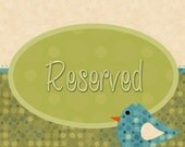 RESERVED for Sach G